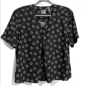 Liz Claiborne Lizwear in black & white rayon